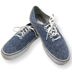 Vans Blue Chevron Denim Sneakers